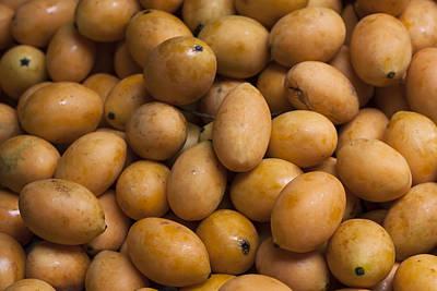 Mango Photograph - Market Mangoes II by Zoe Ferrie