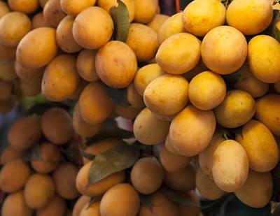 Mango Photograph - Market Mangoes by Zoe Ferrie
