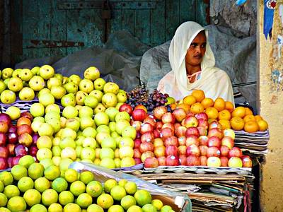 Market Of Djibuti-3 Print by Jenny Senra Pampin