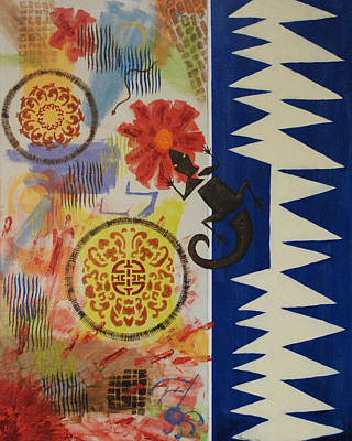 Floral Painting - Marrakesh Express by Susan Forney