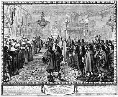 Marriage Contract, 1645 Print by Granger