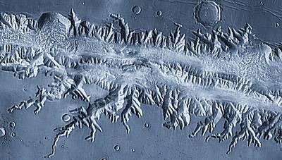 Arial View Photograph - Mars Terrain by Steve Nagy