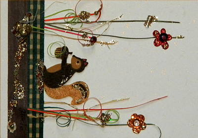 Gracie Mixed Media - Marsh Squirel by Gracies Creations
