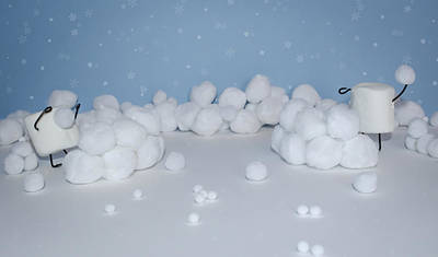 Snow Forts Photograph - Marshmallow Fight by Heather Applegate