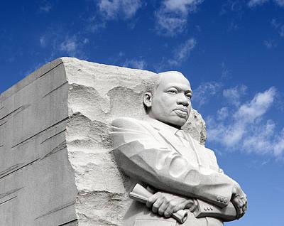 Martin Luther King Jr Memorial - Washington Dc Print by Brendan Reals