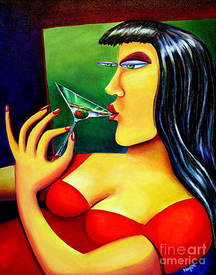Martini Girl Print by Mary Naylor