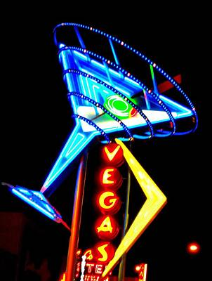 Glitter Gulch Photograph - Martini Vegas by Randall Weidner