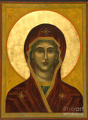 Egg Tempera Painting - Mary by Christine Hales