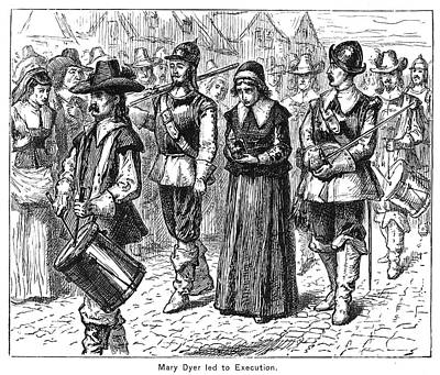 Mary Dyer, D.1660 Print by Granger
