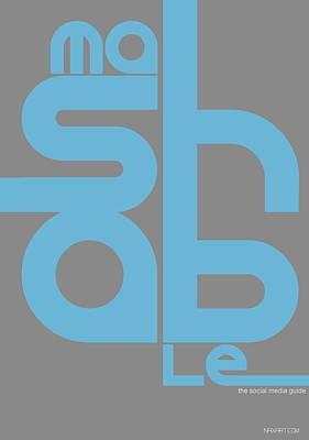 Network Digital Art - Mashable Poster by Naxart Studio