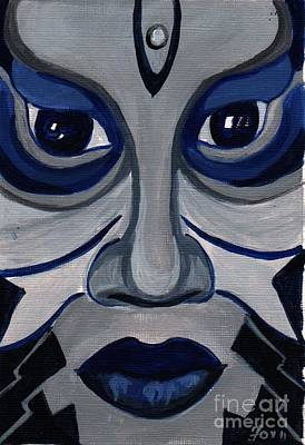 Jamaican Art Painting - Mask 1 by Sharon Fox-Mould