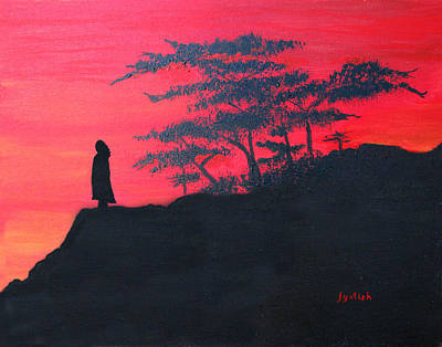 Yogananda Painting - Master Silhouette by Jyotish Novak