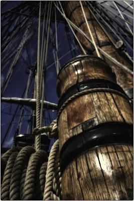 Masts And Ropes Print by Mauricio Jimenez