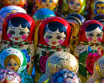 Matryoshka Photograph - Matryoshka Doll  . . .  Russian Nesting Doll by Juli Scalzi