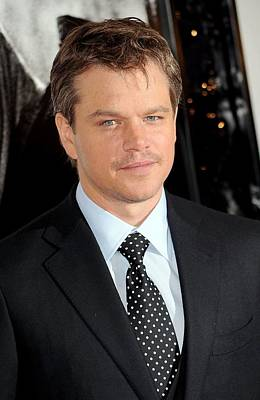Amc Loews Lincoln Square Theatre Photograph - Matt Damon At Arrivals For Green Zone by Everett
