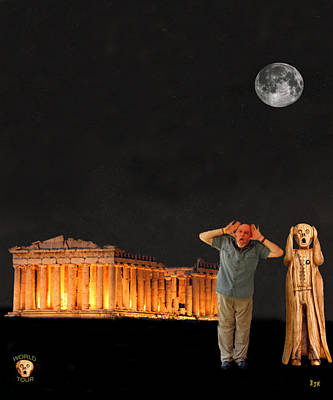 Parthenon Mixed Media - Matt Hovler Screams Athens by Eric Kempson