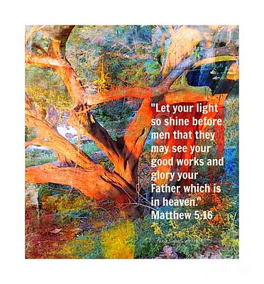 Matthew 5 Print by Fania Simon