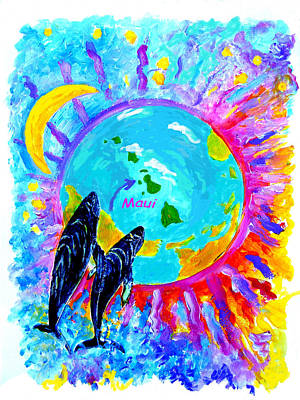 Maui Whales Original by Tamara Tavernier