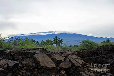 Mauna Kea Photograph - Mauna Kea With Lava In Foreground by Bette Phelan