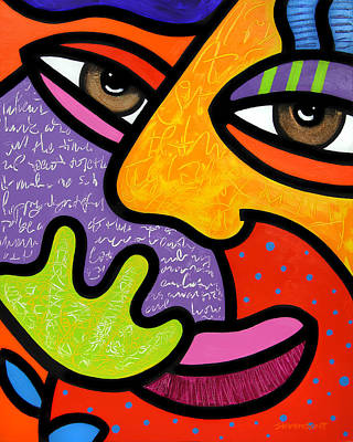 Abstract Faces Painting - Maxine by Steven Scott