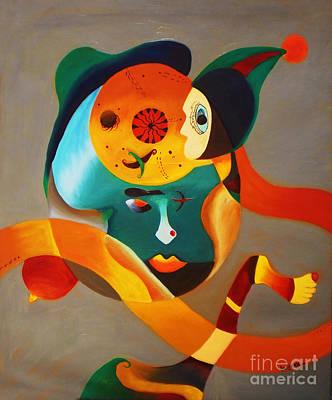 Maya And Atom  Original by Sanjeev Babbar