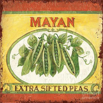 Mayan Painting - Mayan Peas by Debbie DeWitt