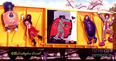 Ronald Mcdonald Painting - Mcboxcar by Cristophers Dream Artistry