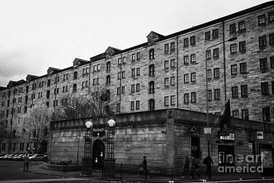 Mcchuills Pub And Converted Bell Street Railway Warehouse Collegelands Glasgow Scotland Uk Print by Joe Fox