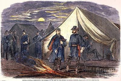 Brinton Photograph - Mcclellan & Burnside, 1862 by Granger