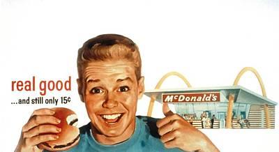 Mcdonalds Restaurant Advertisement Print by Everett