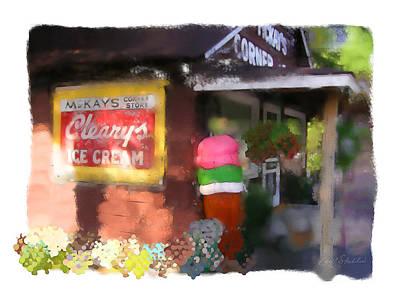 Mckays Corner Store Print by Geoff Strehlow