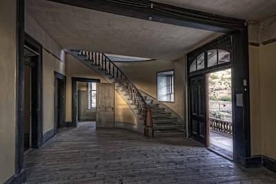 Bannack Ghost Town Photograph - Meade Hotel Lobby - Bannack Montana by Daniel Hagerman