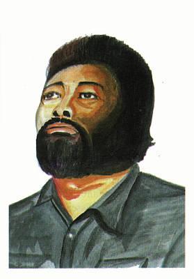 Voice Actor Drawing - Med Hondo by Emmanuel Baliyanga