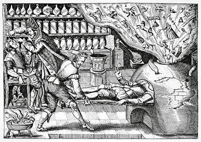Medical Purging, Satirical Artwork Print by