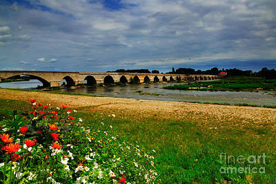 Fourteenth Photograph - Medieval Bridge Over The Loire River At Beaugency by Louise Heusinkveld