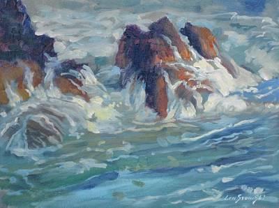 Mediterranean Back Wash Print by Len Stomski