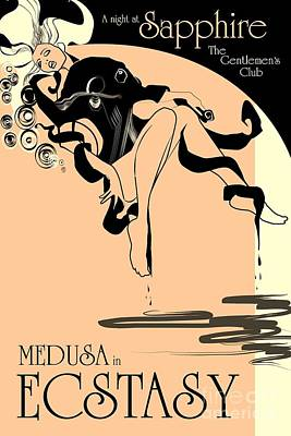 Advertisment Painting - Medusa In Ecstasy by Roberto Prusso