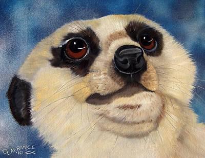 Meerkat Painting - Meerkat Eyes by Debbie LaFrance