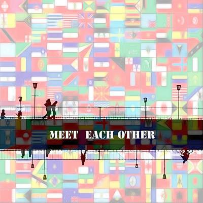 Meet Each Other Print by Steve K