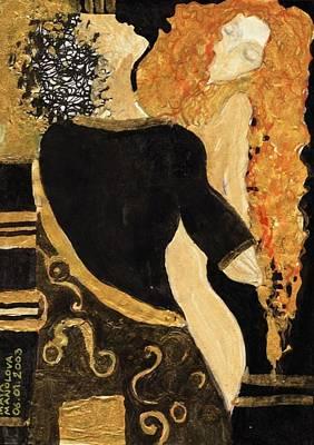 Meeting Gustav Klimt  Print by Maya Manolova