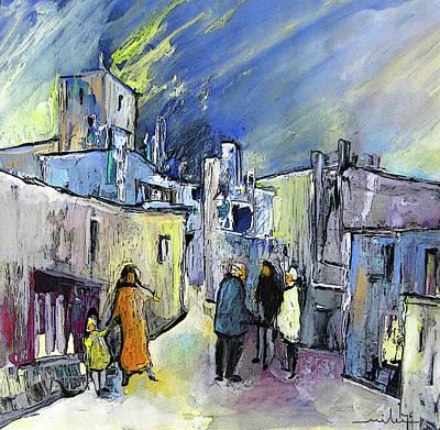 Altea Painting - Meeting In Altea In Spain by Miki De Goodaboom