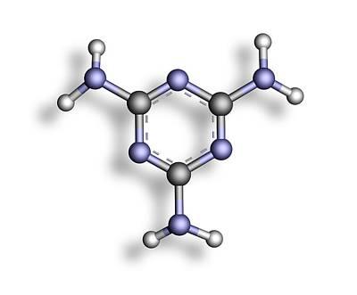 Melamine, Molecular Model Print by Pasieka