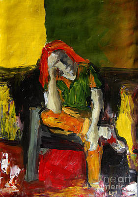 Fauvist Painting - Melancholy by Mona Edulesco