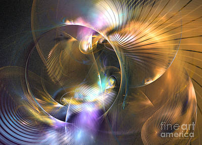 Mellow - Abstract Digital Art Print by Sipo Liimatainen