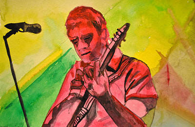 Umphreys Mcgee Drawing - Melody In Red by Patricia Arroyo