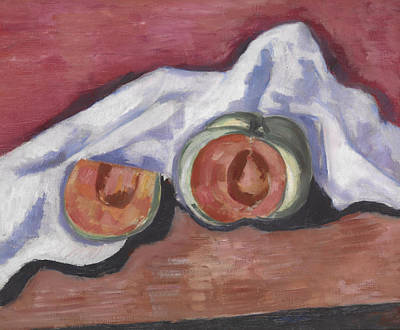 Watermelon Painting - Melons by Marsden Hartley