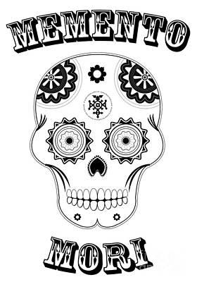 Mexicano Digital Art - Memento Mori - Sugar Skull by Nabucodonosor Perez