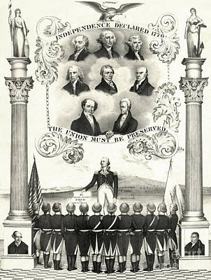 Memorial To The American Revolution Print by Photo Researchers