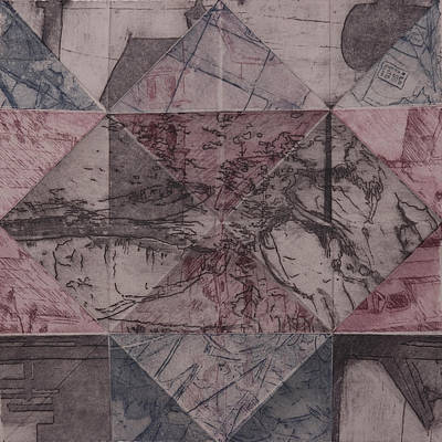 Printmaking Mixed Media - Memory Is Cluttered So I Live In The Moment by Megan Little