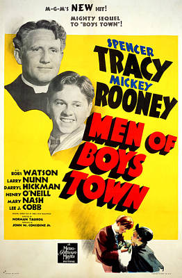 Men Of Boys Town, Spencer Tracy, Mickey Print by Everett